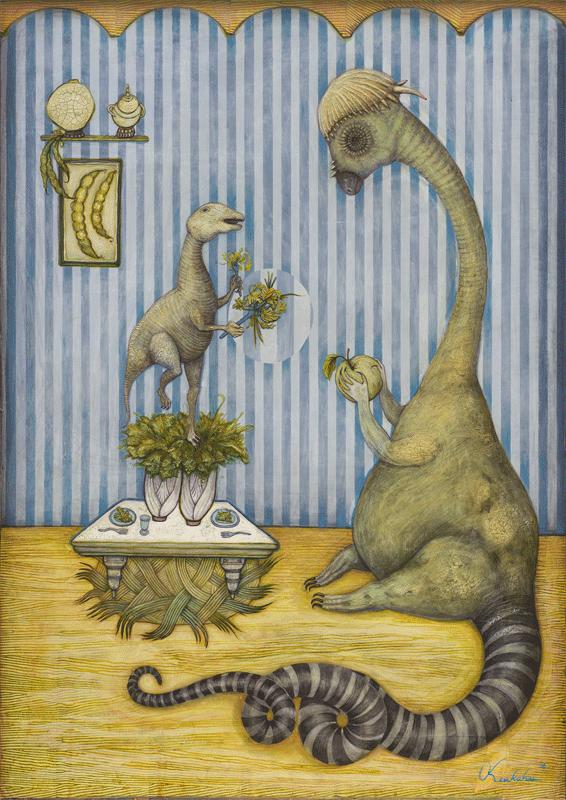 Herbivore Dinosaurs Painting