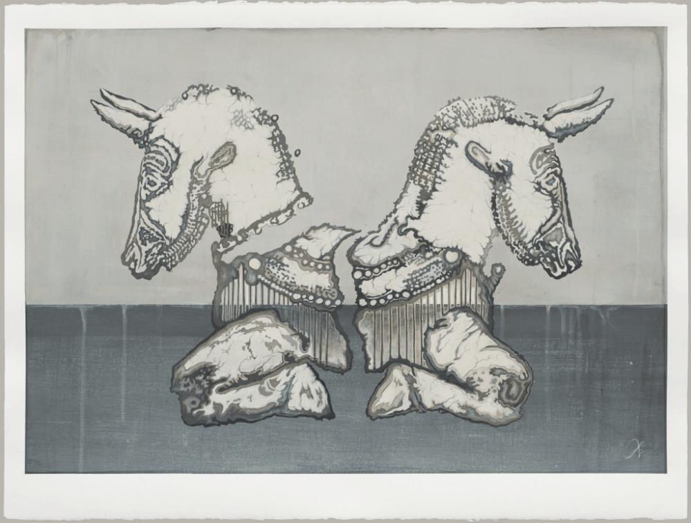 Eternal Wheel | Time | Bull Art | Ink Painting