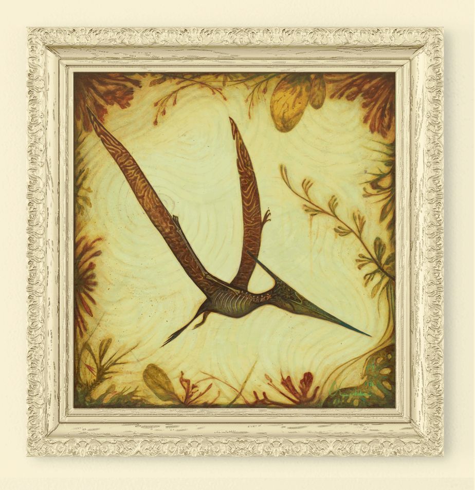 Pterodactyl Abstract Art Painting