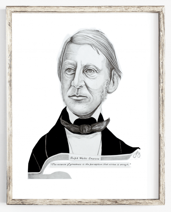 ralph waldo emerson abstract drawing & quote