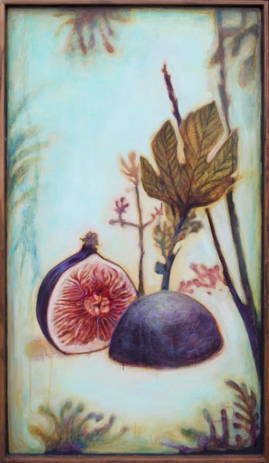 Fig Tree Painting Abstract Fruit Art | Penetrable Layers