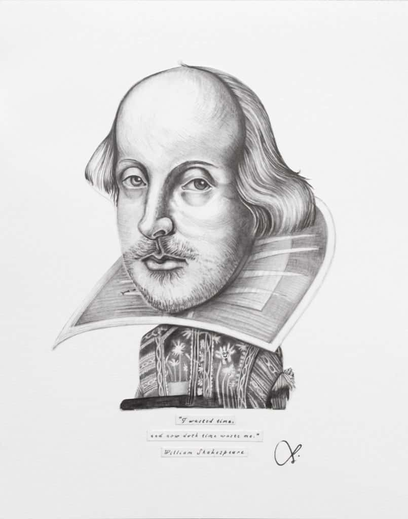 Shakespeare Art Print Surreal Painting Quote