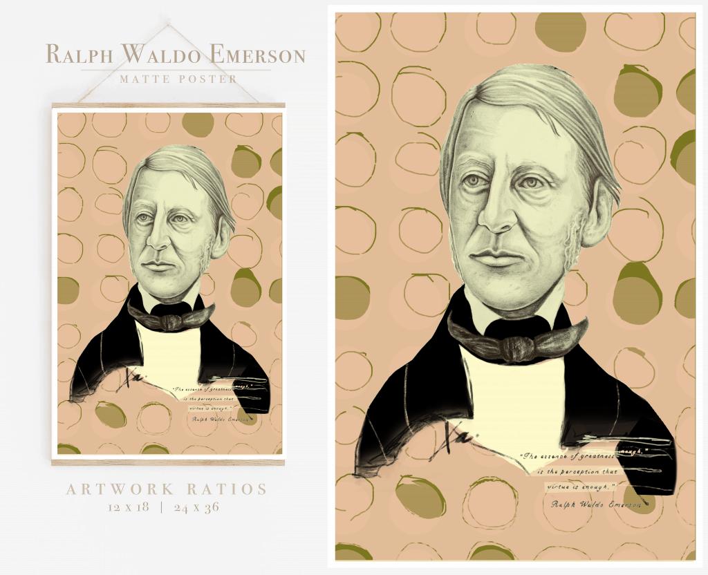 Ralph Waldo Emerson Print Poster Art