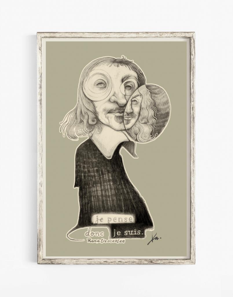 Portrait Art of Rene Descartes